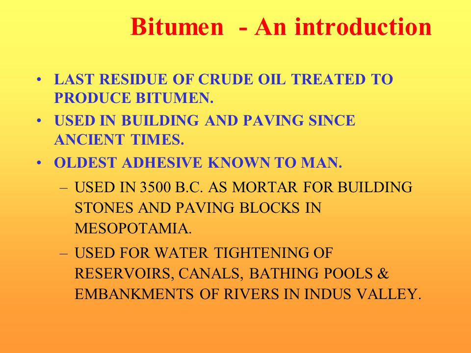Bitumen - An introduction