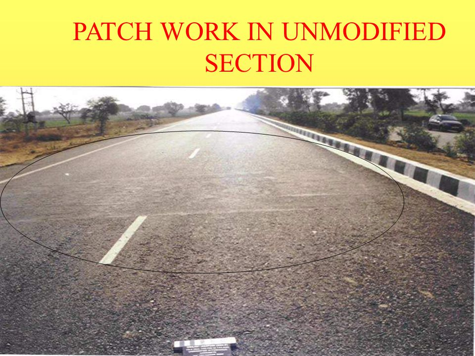 PATCH WORK IN UNMODIFIED SECTION