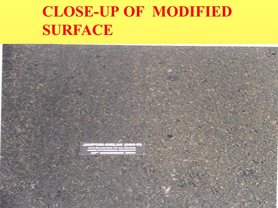 CLOSE-UP OF MODIFIED SURFACE