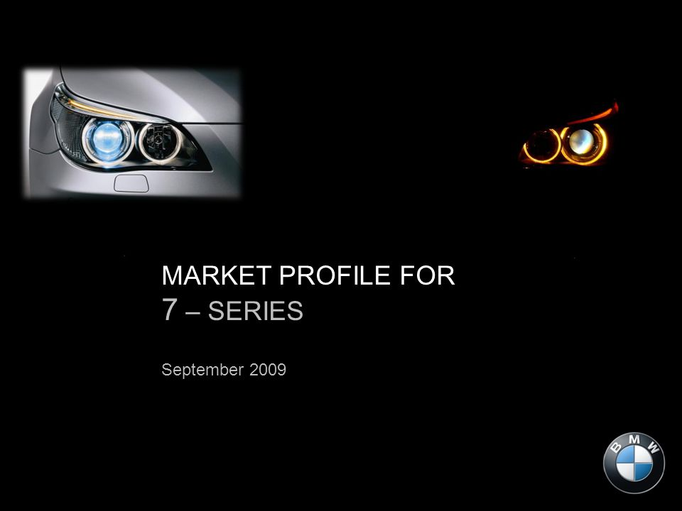 MARKET PROFILE FOR 7 – SERIES September 2009