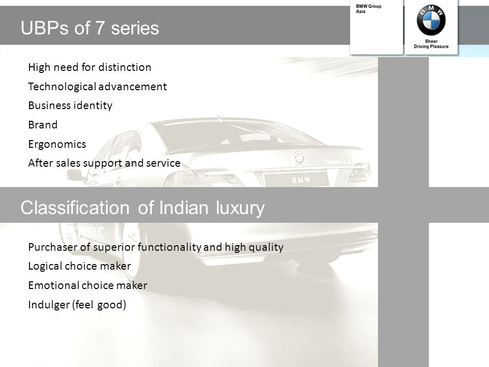 Classification of Indian luxury consumer