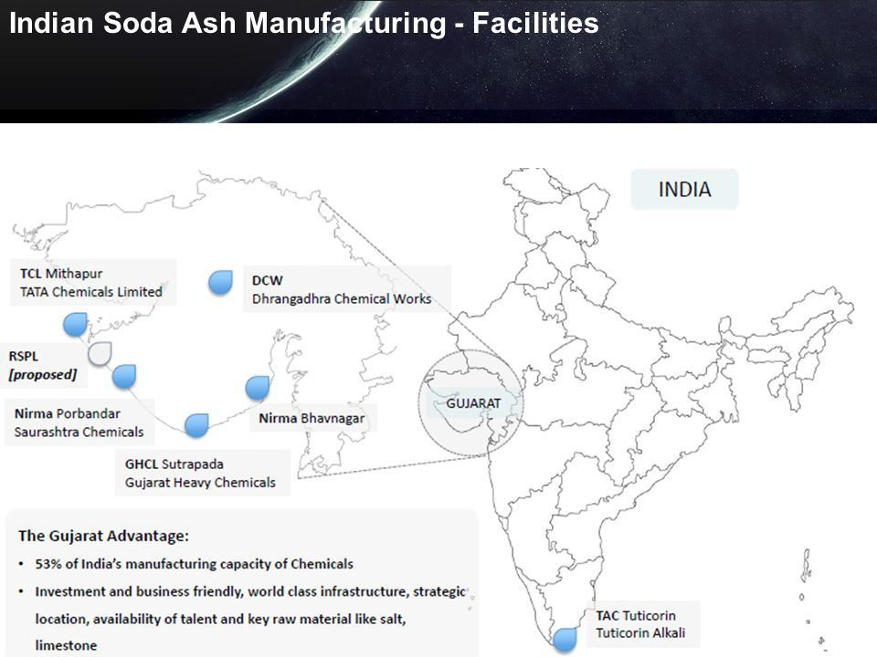 Indian Soda Ash Manufacturing - Facilities
