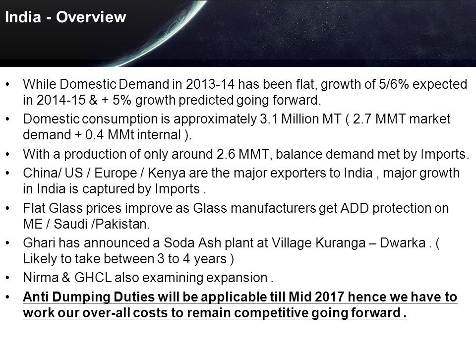 INDIA 2013-14 INDUSTRY HIGHLIGHTS