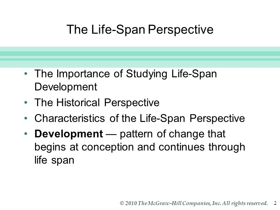 Life span perspective of human development