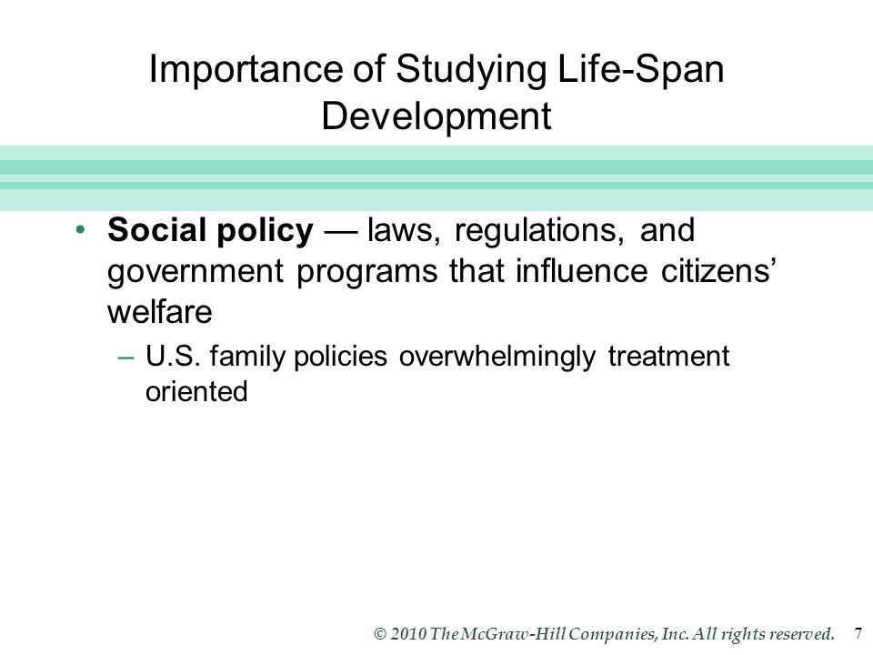 Importance of Studying Life-Span Development