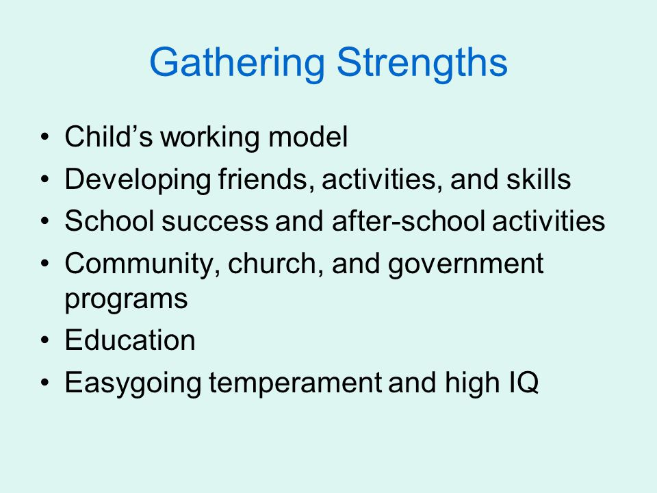 Gathering Strengths Child's working model