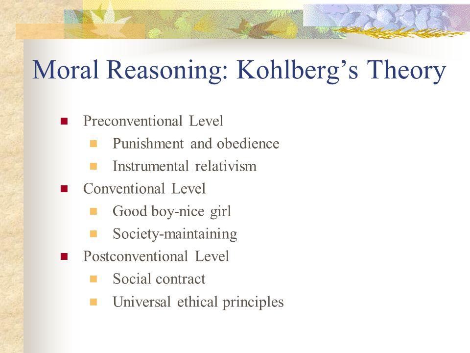 Moral Reasoning: Kohlberg's Theory