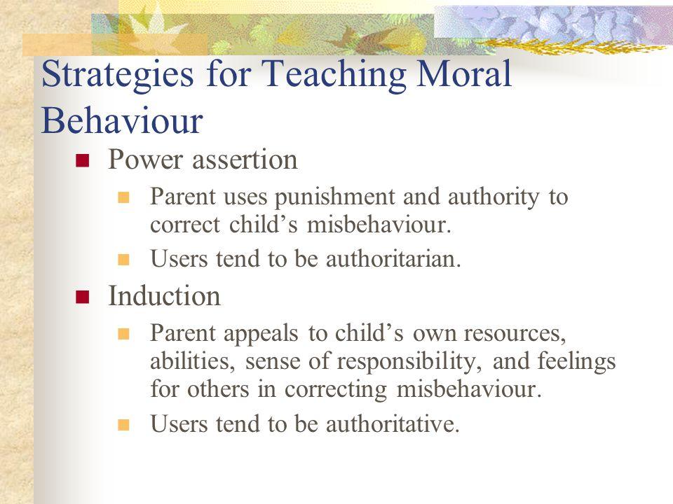 Strategies for Teaching Moral Behaviour