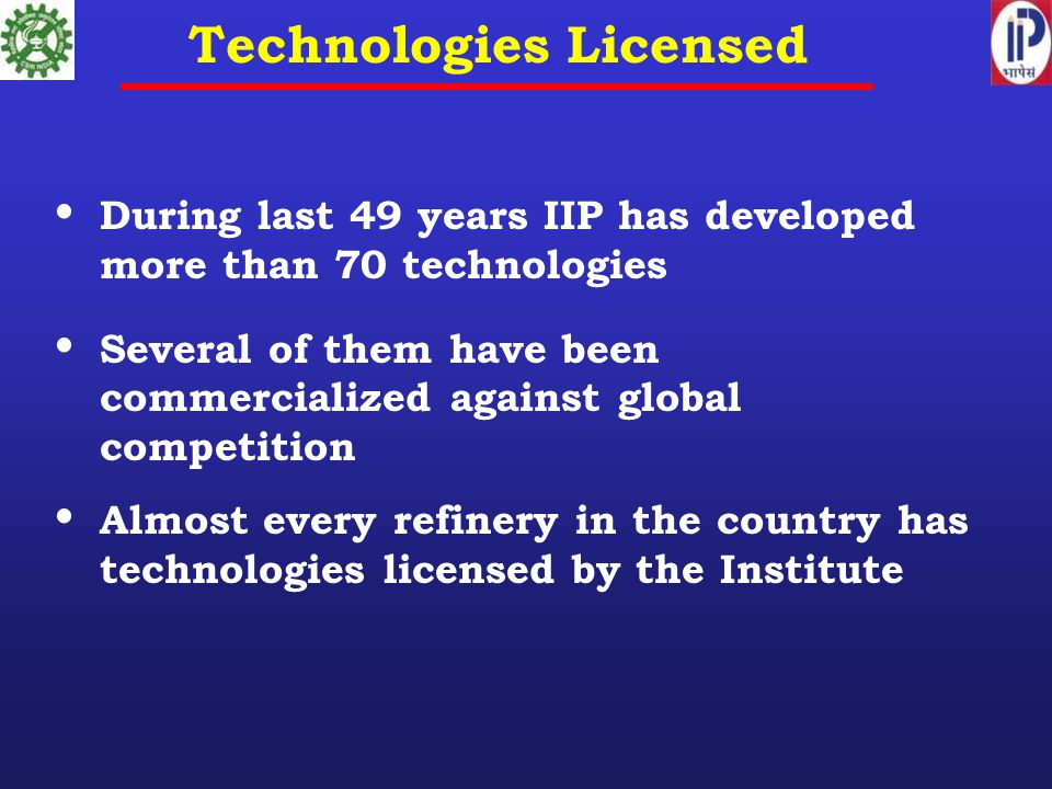 Technologies Licensed