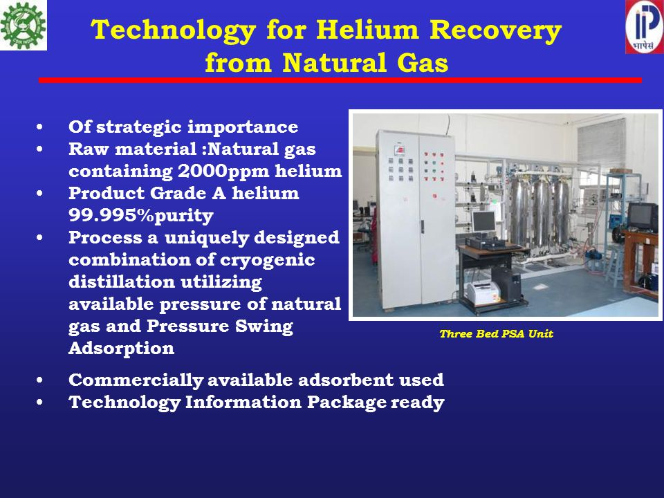 Technology for Helium Recovery