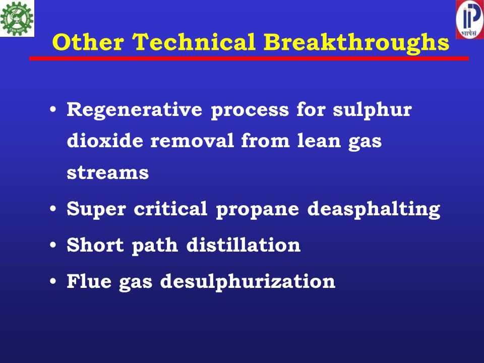 Other Technical Breakthroughs