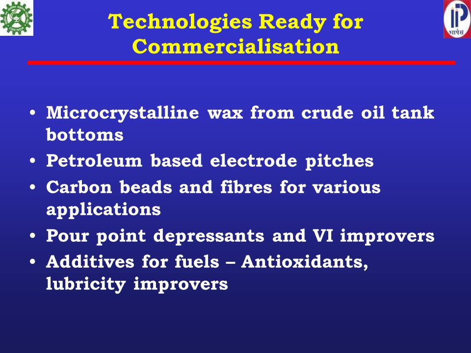 Technologies Ready for Commercialisation