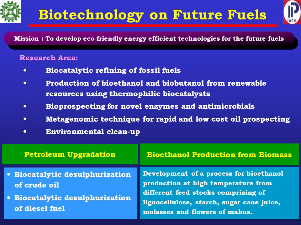 Biotechnology on Future Fuels