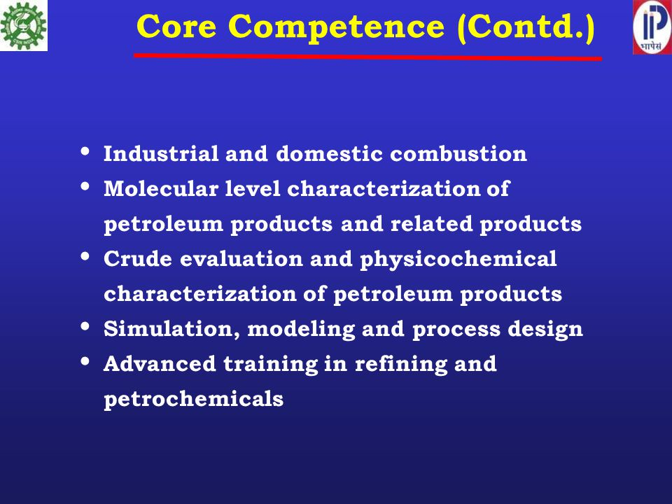 Core Competence (Contd.)