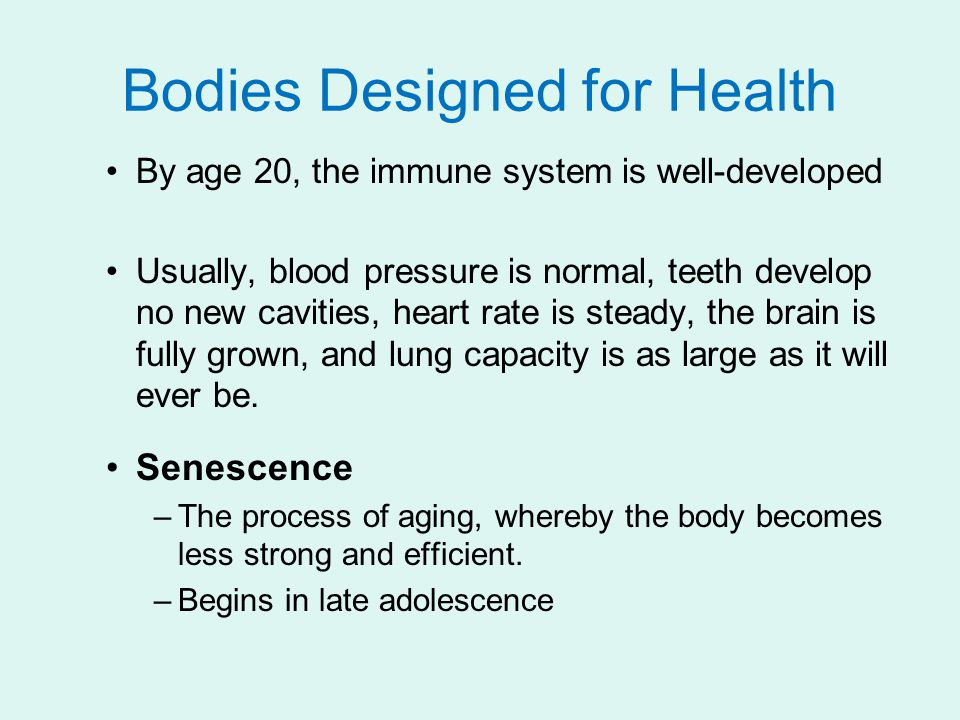 Bodies Designed for Health
