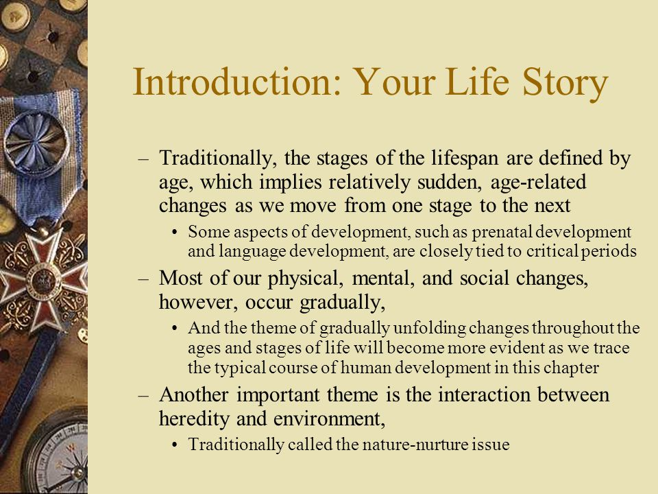 Introduction: Your Life Story
