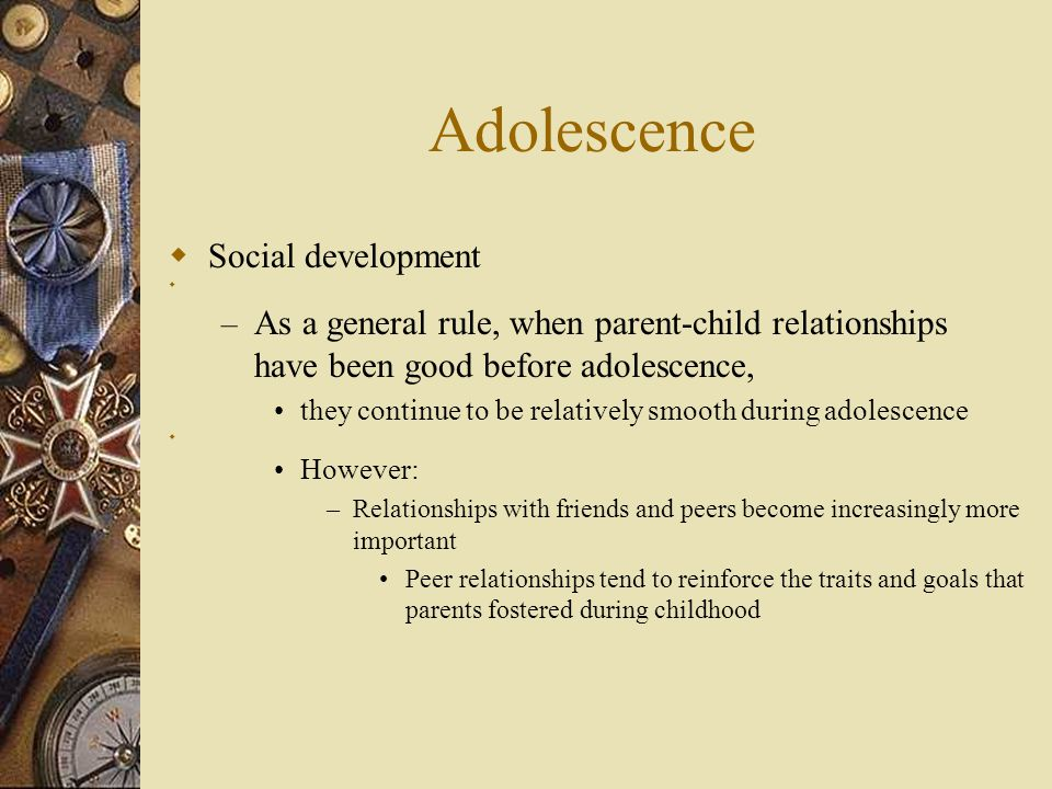 Adolescence Social development