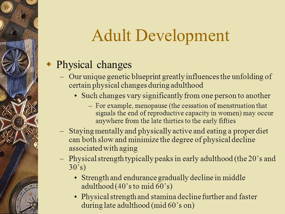 Adult Development Physical changes