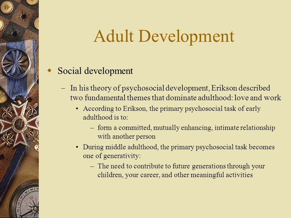 Adult Development Social development