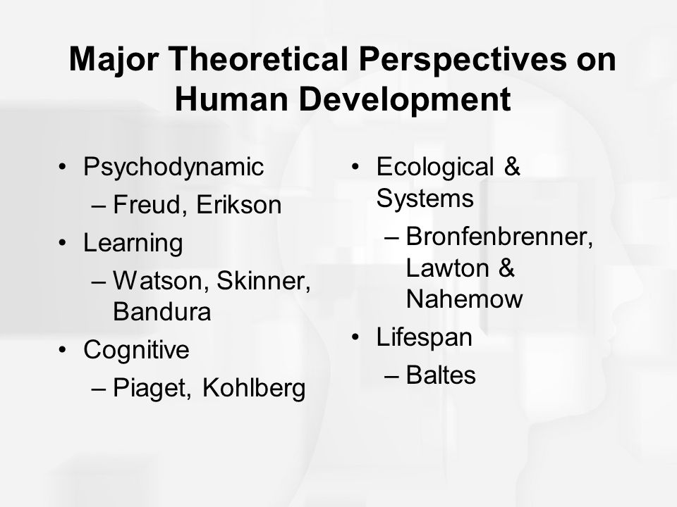Major Theoretical Perspectives on Human Development