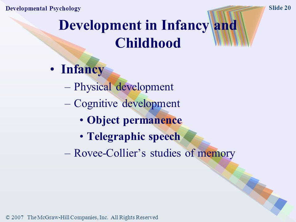 Development in Infancy and Childhood