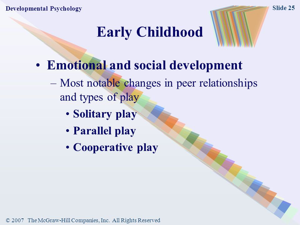 Early Childhood Emotional and social development
