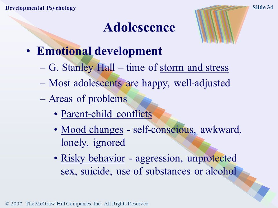 Adolescence Emotional development
