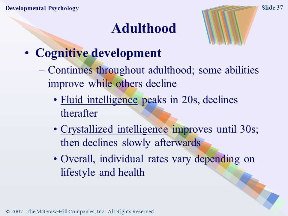 Adulthood Cognitive development