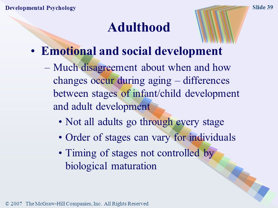 emotional development early adulthood essay Read this essay on early and middle adulthood and social/emotional development discuss about the personality development of early adulthood.