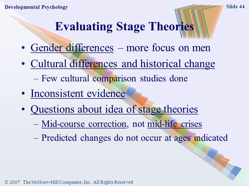 Evaluating Stage Theories