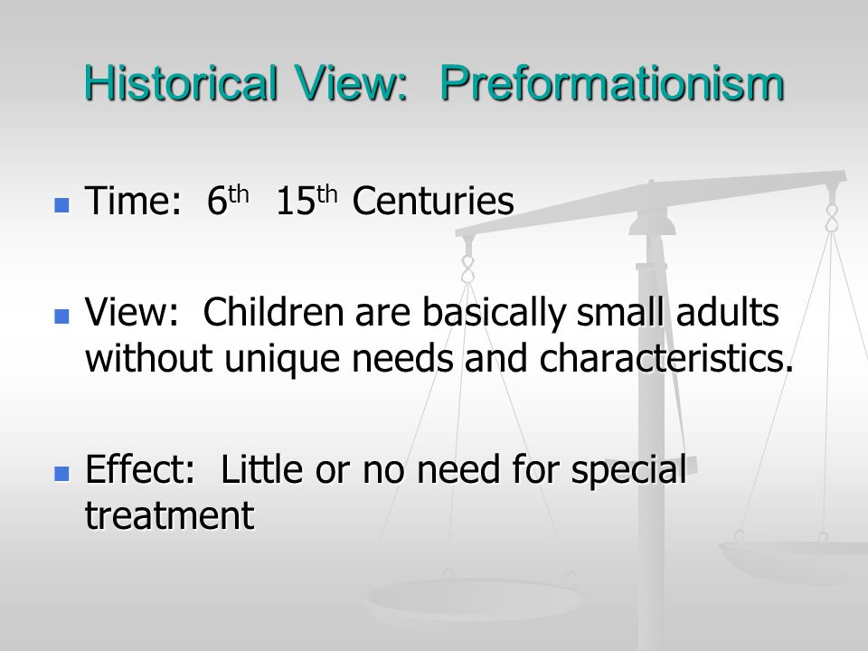 Historical View: Preformationism