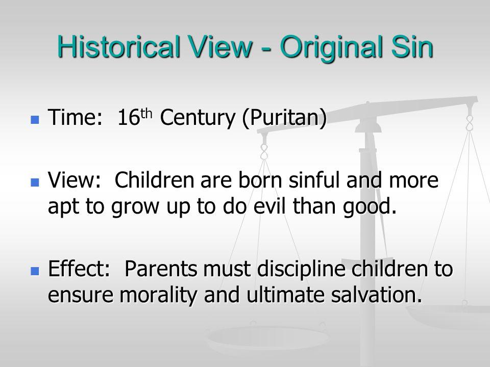 Historical View - Original Sin
