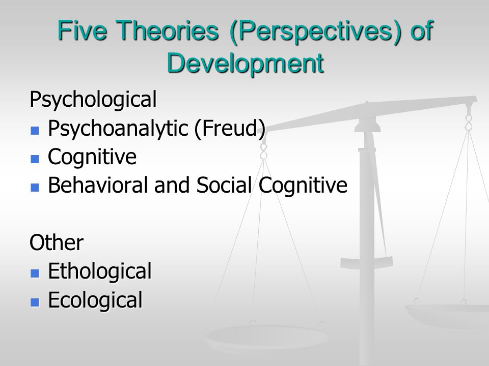 Five Theories (Perspectives) of Development