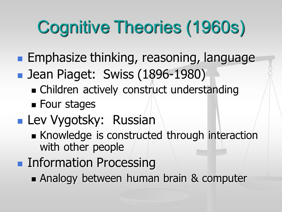Cognitive Theories (1960s)