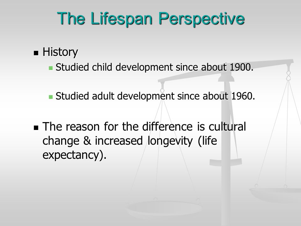 The Lifespan Perspective