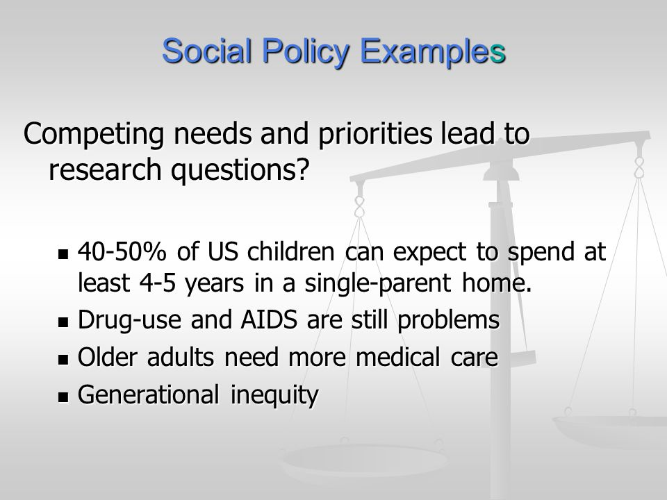 Social Policy Examples