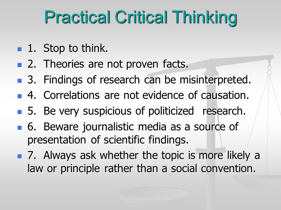 Practical Critical Thinking