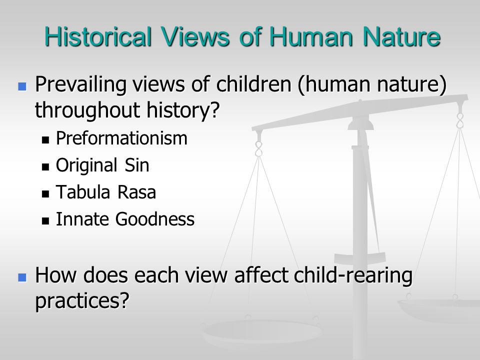 Historical Views of Human Nature