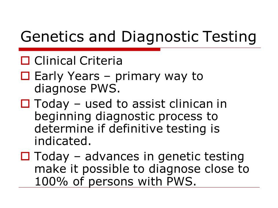 Genetics and Diagnostic Testing