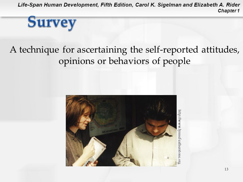 Survey A technique for ascertaining the self-reported attitudes, opinions or behaviors of people.