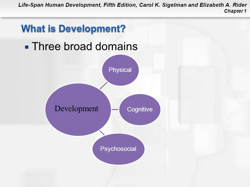 Three broad domains What is Development Development Cognitive