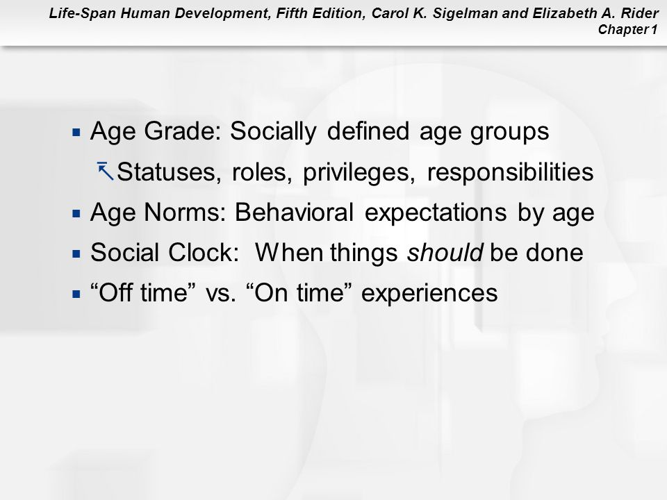 Age Grade: Socially defined age groups