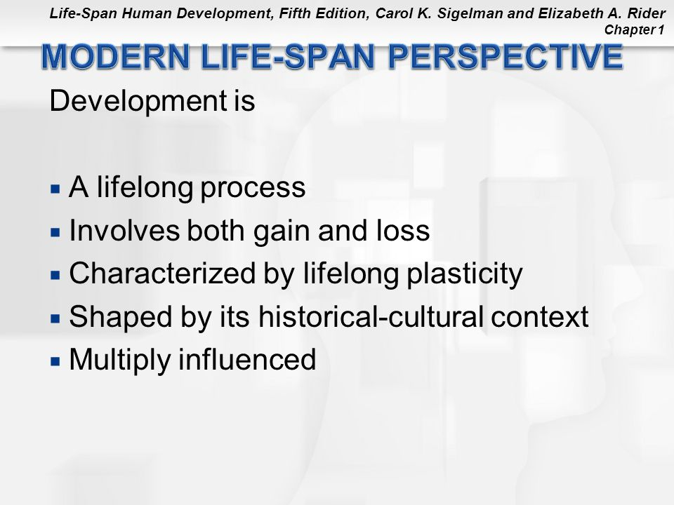 MODERN LIFE-SPAN PERSPECTIVE