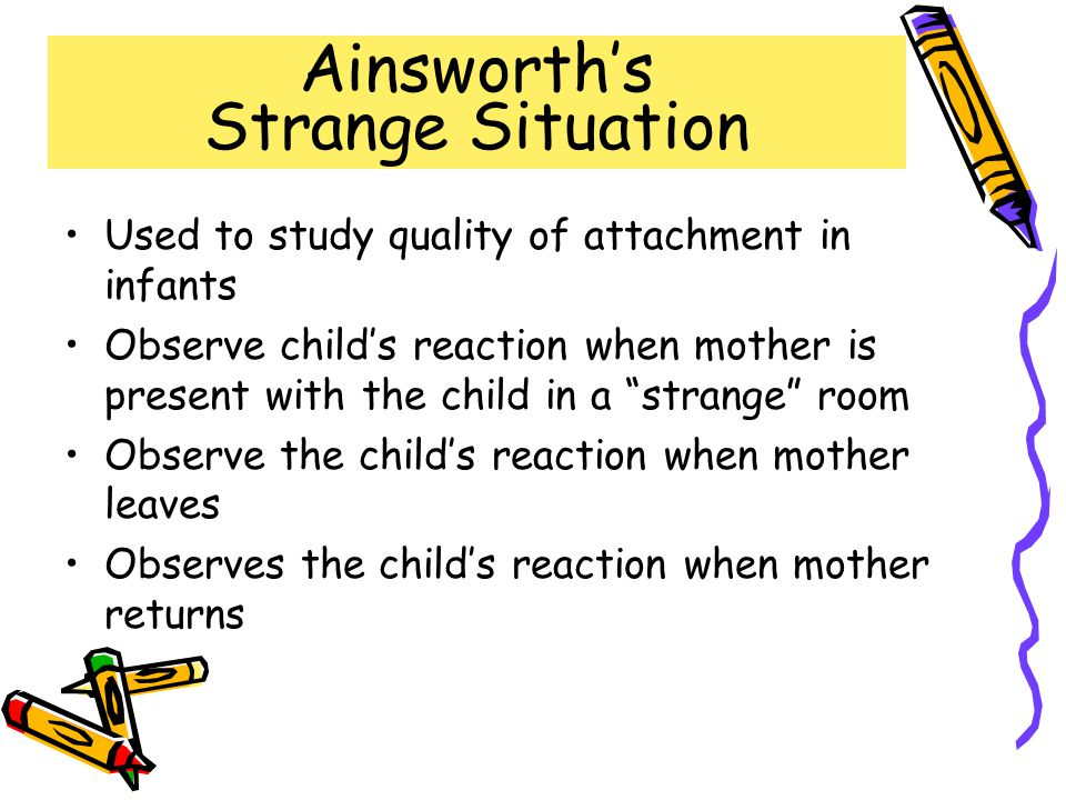 Ainsworth's Strange Situation