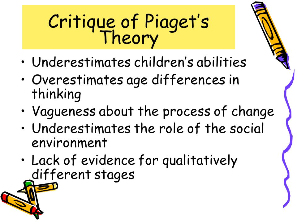 Critique of Piaget's Theory