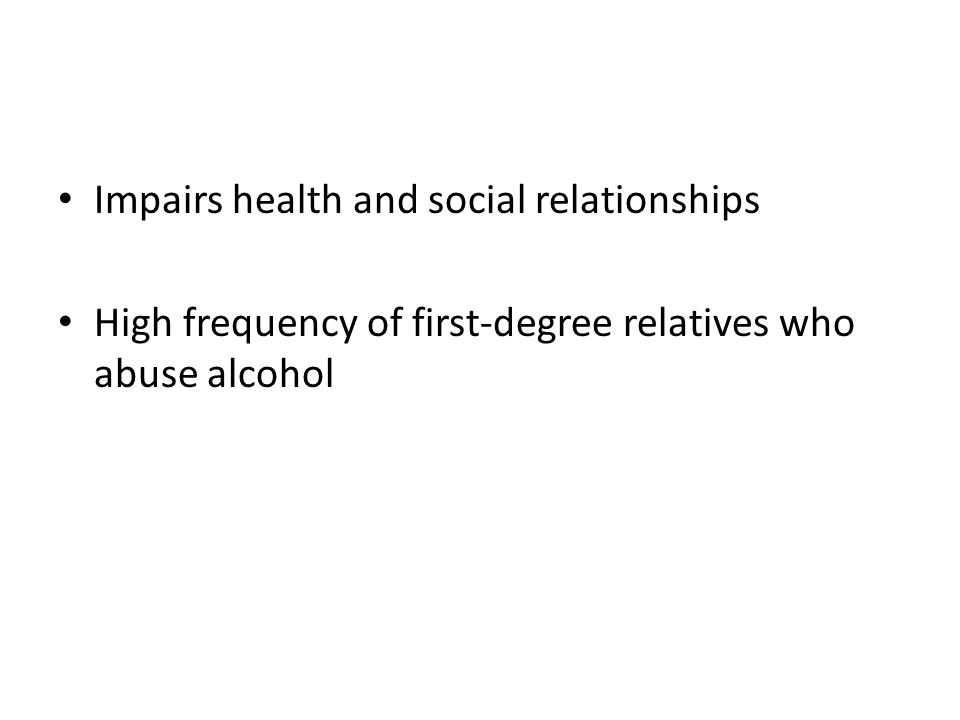 Impairs health and social relationships