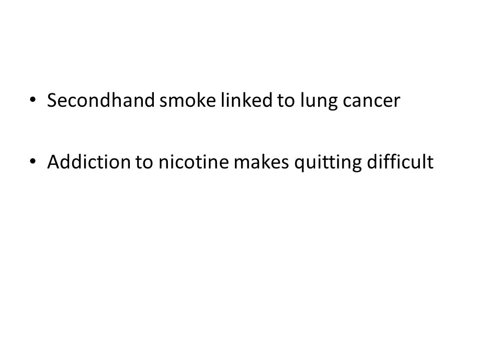 Secondhand smoke linked to lung cancer
