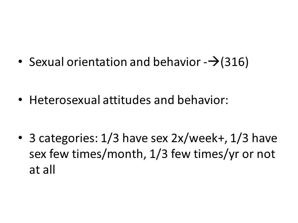Sexual orientation and behavior -(316)