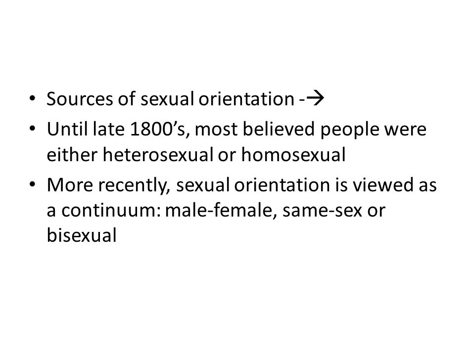 Sources of sexual orientation -