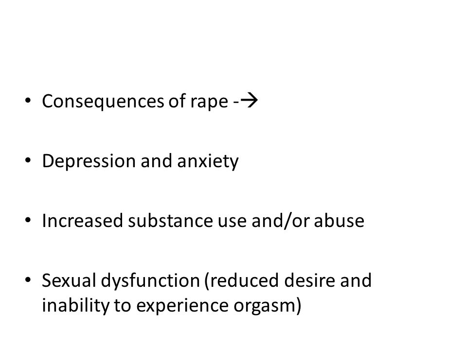 Consequences of rape -